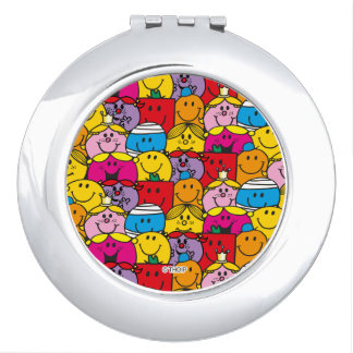 Mr Men & Little Miss | In A Crowd Pattern Makeup Mirror