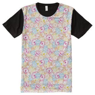 Mr Men & Little Miss | Neon Colors Pattern All-Over Print T-Shirt