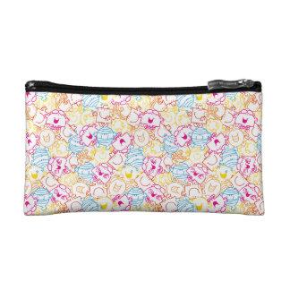 Mr Men & Little Miss | Neon Colors Pattern Cosmetics Bags
