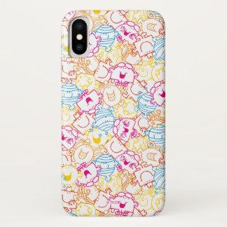 Mr Men & Little Miss | Neon Colors Pattern iPhone X Case