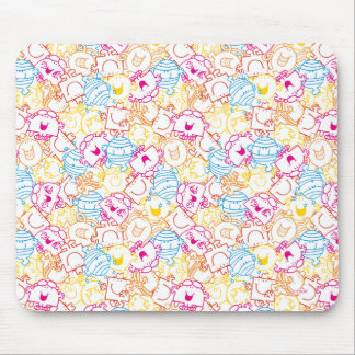 Mr Men & Little Miss | Neon Colors Pattern Mouse Pad