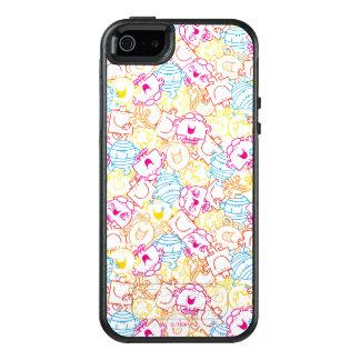 Mr Men & Little Miss | Neon Colors Pattern OtterBox iPhone 5/5s/SE Case