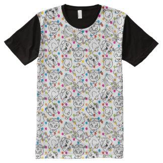 Mr Men & Little Miss | Rainbow Polka Dots Pattern All-Over Print T-Shirt