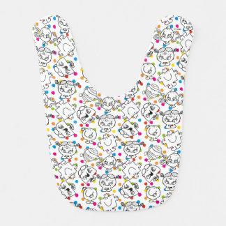 Mr Men & Little Miss | Rainbow Polka Dots Pattern Bib