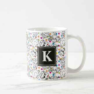Mr Men & Little Miss | Rainbow Polka Dots Pattern Coffee Mug