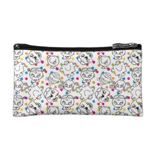 Mr Men & Little Miss | Rainbow Polka Dots Pattern Cosmetics Bags