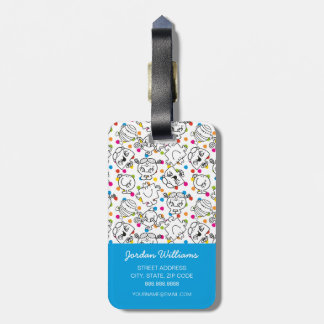 Mr Men & Little Miss | Rainbow Polka Dots Pattern Luggage Tag