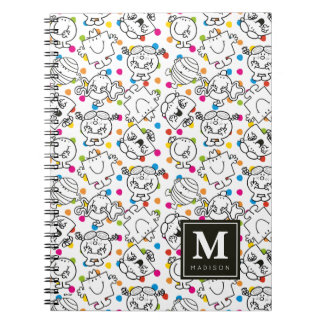 Mr Men & Little Miss | Rainbow Polka Dots Pattern Notebook