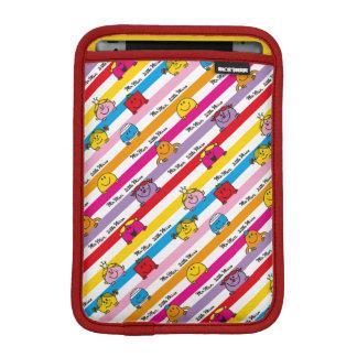 Mr Men & Little Miss | Rainbow Stripes Pattern iPad Mini Sleeve