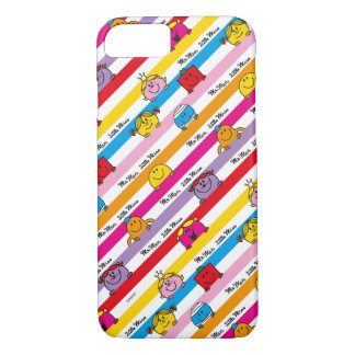 Mr Men & Little Miss | Rainbow Stripes Pattern iPhone 7 Case