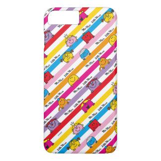 Mr Men & Little Miss | Rainbow Stripes Pattern iPhone 7 Plus Case