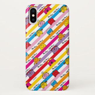 Mr Men & Little Miss | Rainbow Stripes Pattern iPhone X Case