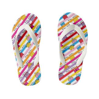 Mr Men & Little Miss | Rainbow Stripes Pattern Kid's Thongs