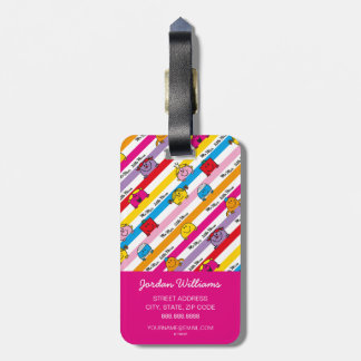 Mr Men & Little Miss | Rainbow Stripes Pattern Luggage Tag