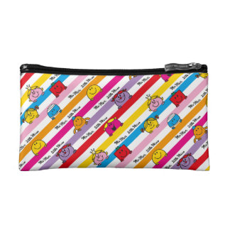 Mr Men & Little Miss | Rainbow Stripes Pattern Makeup Bags