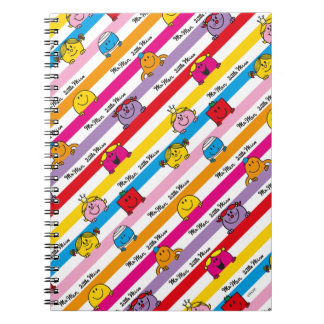 Mr Men & Little Miss | Rainbow Stripes Pattern Notebook