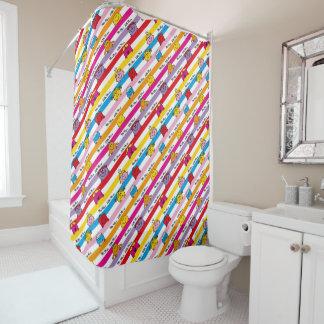 Mr Men & Little Miss | Rainbow Stripes Pattern Shower Curtain