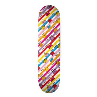 Mr Men & Little Miss | Rainbow Stripes Pattern Skateboard