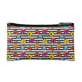 Mr Men & Little Miss | Stripes Pattern Cosmetic Bag