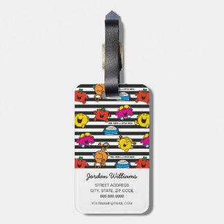 Mr Men & Little Miss | Stripes Pattern Luggage Tag