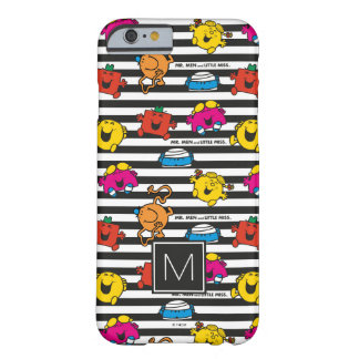 Mr Men & Little Miss | Stripes Pattern | Monogram Barely There iPhone 6 Case