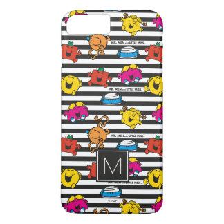 Mr Men & Little Miss | Stripes Pattern | Monogram iPhone 8 Plus/7 Plus Case