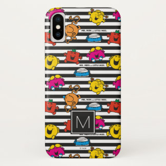 Mr Men & Little Miss | Stripes Pattern | Monogram iPhone X Case