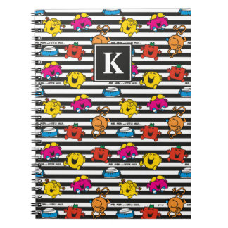 Mr Men & Little Miss | Stripes Pattern | Monogram Notebooks