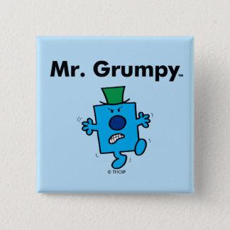 Mr. Men | Mr. Grumpy is a Grump 15 Cm Square Badge