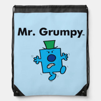 Mr. Men | Mr. Grumpy is a Grump Drawstring Bag