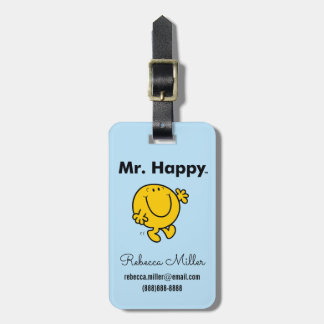 Mr. Men | Mr. Happy Is Always Happy Luggage Tag