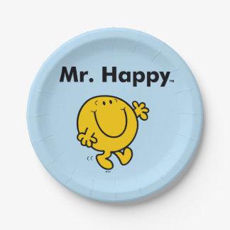Mr. Men   Mr. Happy Is Always Happy Paper Plate