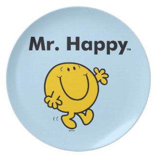 Mr. Men   Mr. Happy Is Always Happy Plate