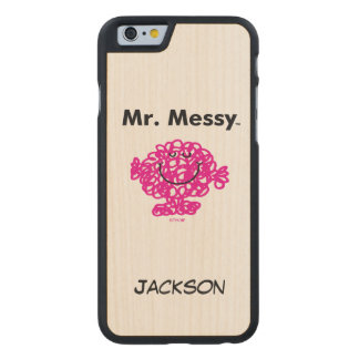 Mr. Men | Mr. Messy Is Cute, But Messy Carved Maple iPhone 6 Case