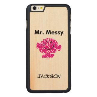 Mr. Men | Mr. Messy Is Cute, But Messy Carved Maple iPhone 6 Plus Case