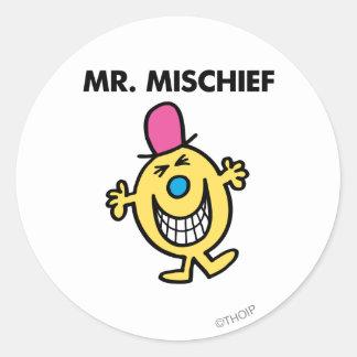 Mr. Mischief | Smiling Gleefully Classic Round Sticker