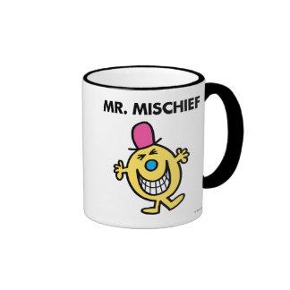 Mr. Mischief | Smiling Gleefully Ringer Coffee Mug