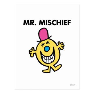 Mr. Mischief | Smiling Gleefully Postcard