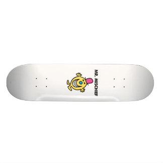Mr. Mischief   Smiling Gleefully Skate Board