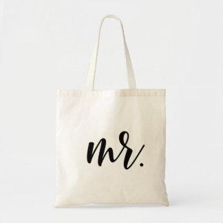 Mr. Modern Wedding Script Tote Bag
