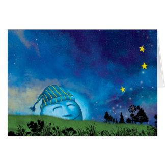 Mr. Moon Wakes Up Card