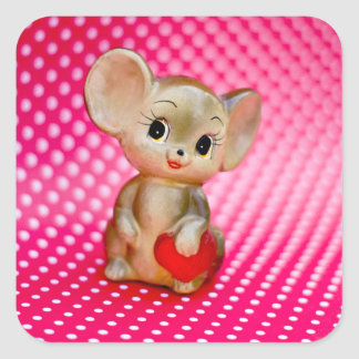 Mr. Mouse Square Sticker