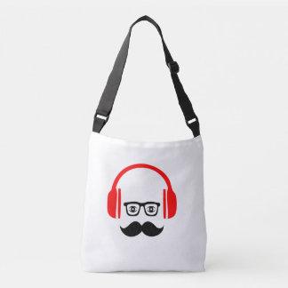mr. moustache deejay Cross Body Bag