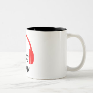 mr. moustache deejay Two-Tone Mug