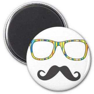 Mr Moustache Hipster Fridge Magnets