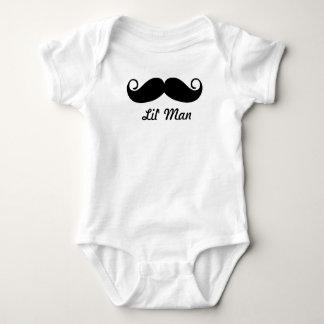 Mr. Moustache Hipster Pattern Baby Bodysuit