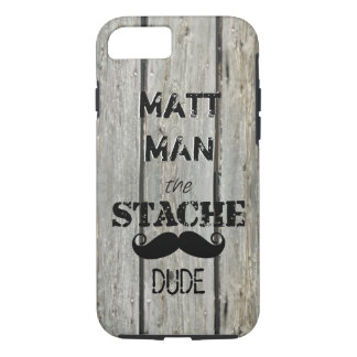 Mr. Moustache Hipster Pattern iPhone 7 Case