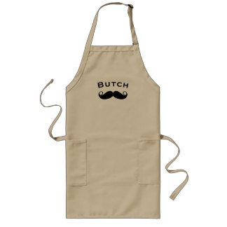 Mr. Moustache Hipster Pattern Long Apron