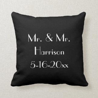 Mr. & Mr. Gay Wedding Anniversary Cushions