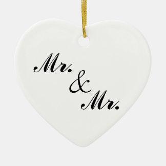 Mr. & Mr. Heart-Shaped Christmas Ornament